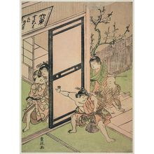 Kitao Shigemasa: Boys Playing Theater - Museum of Fine Arts