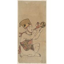 Kitao Shigemasa: Young Boy with Fan and Toy - Museum of Fine Arts
