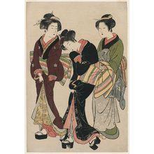 北尾重政: Two Geisha with Assistant - ボストン美術館
