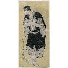 Toshusai Sharaku: Actor Sakata Hangorô III as Kosodate Kannonbô - Museum of Fine Arts