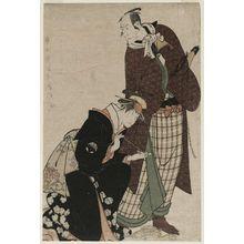 東洲斎写楽: Actors Matsumoto Kôshirô IV as Magoemon and Nakayama Tomisaburô as Umegawa - ボストン美術館