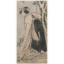 Toshusai Sharaku: Actor Nakamura Noshio II as Konohana, Daughter of Ki no Tsurayuki - Museum of Fine Arts