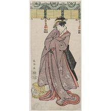 東洲斎写楽: Actor Segawa Tomisaburô II as the Ôtomo Family's Maid Wakakusa, Actually Prince Koretaka - ボストン美術館