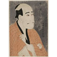Toshusai Sharaku: Actor Arashi Ryûzô II as the Moneylender Ishibe Kinkichi - Museum of Fine Arts