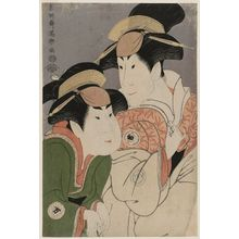 Toshusai Sharaku: Actors Segawa Tomisaburô II as Yadorigi, Wife of Ôgishi Kurando, and Nakamura Man'yo as the Maid Wakakusa - Museum of Fine Arts