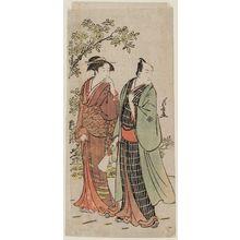 Torii Kiyonaga: Actor Ichikawa Monnosuke II and His Wife - Museum of Fine Arts