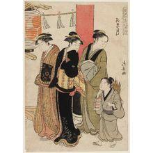 Torii Kiyonaga: The Ninth Month (Momijizuki), from the series Fashionable Monthly Pilgrimages in the Four Seasons (Fûryû shiki no tsuki môde) - Museum of Fine Arts