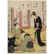 Torii Kiyonaga: Mother-in-law Criticizing the Bride, from the series Humorous Poems of the Willow (Haifû yanagidaru) - Museum of Fine Arts