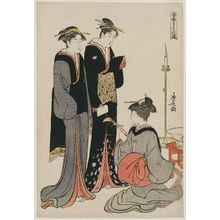 鳥居清長: Entertaining at a Party, from the series Musical Pastimes (Ongyoku tegoto no asobi) - ボストン美術館