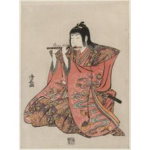 Torii Kiyonaga: Flute Player, from an untitled set of Five Musicians (Gonin-bayashi) - Museum of Fine Arts