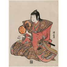 鳥居清長: Small Hand Drum, from an untitled set of Five Musicians (Gonin-bayashi) - ボストン美術館