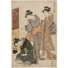 Torii Kiyonaga: Two Women and a Dozing Maid, from the series Current Manners in Eastern Brocade (Fûzoku Azuma no nishiki) - Museum of Fine Arts