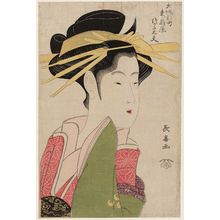 長喜: Tsukasa-dayû of the Higashi-Ôgiya, from the series The ShInmachi Quarter of Osaka (Ôsaka Shinmachi) - ボストン美術館