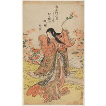 勝川春潮: Actor Iwai Hanshirô IV as Kikujidô - ボストン美術館