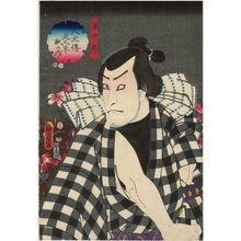 Utagawa Kunisada II: Actor Bandô Hikosaburô IV as Namishirô, from the series The Book of the Eight Dog Heroes (Hakkenden inu no sôshi no uchi) - Museum of Fine Arts