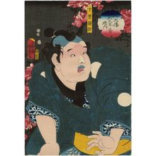 Utagawa Kunisada II: Actor Ichikawa Hirogorô as the Servant Nukasuke (Genan Nukasuke), from the series The Book of the Eight Dog Heroes (Hakkenden inu no sôshi no uchi) - Museum of Fine Arts