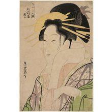 Rekisentei Eiri: Morokoshi of the Echizenya, from the series Contest of Beauties of the Pleasure Quarters (Kakuchû bijin kurabe) - ボストン美術館