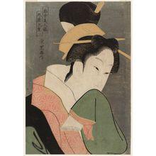 Rekisentei Eiri: Kokonoe of the Maruya, from the series Comparison of Beauties in the Pleasure Quarters (Kuruwa-jû bijin kurabe) - Museum of Fine Arts