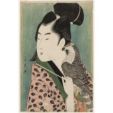 Chokosai Eisho: Young Man with Falcon - Museum of Fine Arts