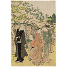 Angyûsai Enshi: Cherry Bossom Viewing at Ueno - Museum of Fine Arts