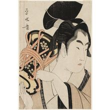Ichirakutei Eisui: Young Man Playing a Hand Drum - Museum of Fine Arts