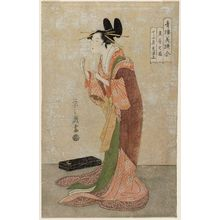 Hosoda Eishi: Misayama of the Chôjiya in Her Nightclothes (Tokogi no zu), from the series A Comparison of Selected Beauties of the Pleasure Quarters (Seirô bisen awase) - Museum of Fine Arts