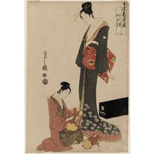 細田栄之: Ohane and Ofuku, from the series Selected Geisha of the Yoshiwara (Seirô geisha sen) - ボストン美術館