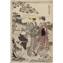 Hosoda Eishi: Kiyomizu Temple (Kiyomizu), from the series Fashionable Versions of the Seven Komachi (Fûryû nana Komachi) - Museum of Fine Arts