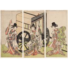 Katsukawa Shunsho: Actors Nakamura Noshio, Nakamura Tomijûrô, and Yamashita Kinsaku in