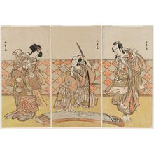 Katsukawa Shunsho: Actors in a Scene from Shosa - Museum of Fine Arts