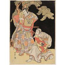 勝川春章: Actors Ichikawa Danzô IV and Bandô Mitsugorô II - ボストン美術館