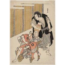 Katsukawa Shunsho: Actors Ichikawa Danjûrô V as Seigen and Ichikawa Danzô IV as Onio - Museum of Fine Arts