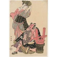 勝川春英: Actors Ichikawa Danjûrô V and Osagawa Tsuneyo II - ボストン美術館