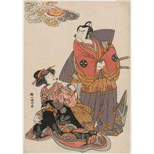 Katsukawa Shunko: Actors Nakamura Nakazô I and Nakamura Rikô - Museum of Fine Arts