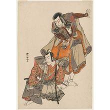 Katsukawa Shunko: Actors Nakamura Nakazô I and Ichikawa Danjûrô V - Museum of Fine Arts