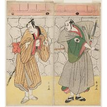 Katsukawa Shun'ei: Actors Onoe Kikugorô ? (R) and Ichikawa Yaozô (L) - Museum of Fine Arts