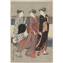 Torii Kiyonaga: Enjoying the Evening Cool on the Banks of the Sumida River - Museum of Fine Arts