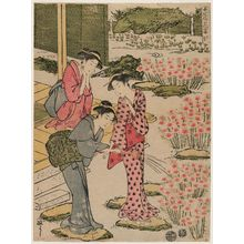 Kitao Masayoshi: The Sixth Month (Rokugatsu), from the series (?) Women's Customs: Flower Viewing Parties (Onna fûzoku hana no en) - Museum of Fine Arts