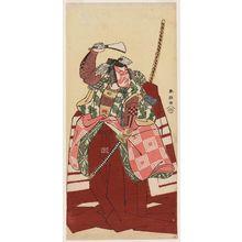 Katsukawa Shuncho: Actor Ichikawa Monnosuke in Shibaraku - Museum of Fine Arts