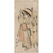 喜多川歌麿: Actor Nakamura Noshio II as a Buddhist Pilgrim (Rokubu) - ボストン美術館