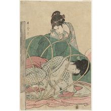 Kitagawa Utamaro: Mother Nursing Baby under Mosquito Net - Museum of Fine Arts