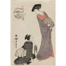 Kitagawa Utamaro: Twilight Snow of the Widow (Goke no bosetsu), from the series Eight VIews of Floating World Customs (Fûzoku ukiyo hakkei) - Museum of Fine Arts