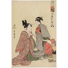 Kitagawa Utamaro: The Hour of the Tiger (Tora no koku), from the series The Twelve Hours in the Yoshiwara (Seirô jûni toki tsuzuki) - Museum of Fine Arts