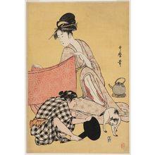 喜多川歌麿: Needlework - ボストン美術館