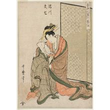 Kitagawa Utamaro: Kiyokawa and Bunshichi, from the series Musical Program of True Love (Ongyoku hiyoku no bangumi) - Museum of Fine Arts