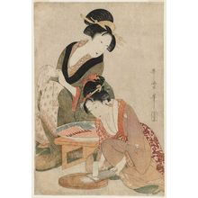 Kitagawa Utamaro: Grating Radish for Sashimi - Museum of Fine Arts