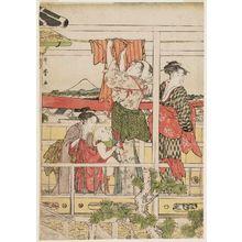 喜多川歌麿: Drying Clothes - ボストン美術館