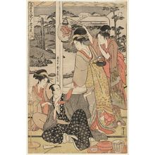 Kitagawa Utamaro: Act XI (Jûichidanme), from the series The Chûshingura Drama Parodied by Famous Beauties: A Set of Twelve Prints (Kômei bijin mitate Chûshingura jûnimai tsuzuki) - Museum of Fine Arts