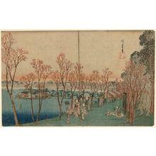 Utagawa Hiroshige: Shinobazu Pond at Ueno (Ueno Shinobazu no ike), from the series Famous Places in Edo (Kôto meisho) - Museum of Fine Arts