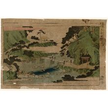 歌川広重: Waterfall River at Ôji (Ôji Takinogawa), from the series Famous Places in the Eastern Capital (Tôto meisho) - ボストン美術館